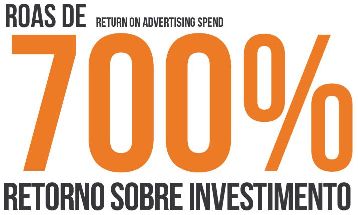 700% de retorno sobre investimento
